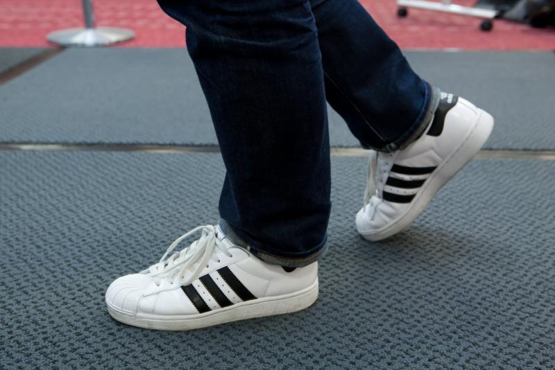 靴底消毒の様子