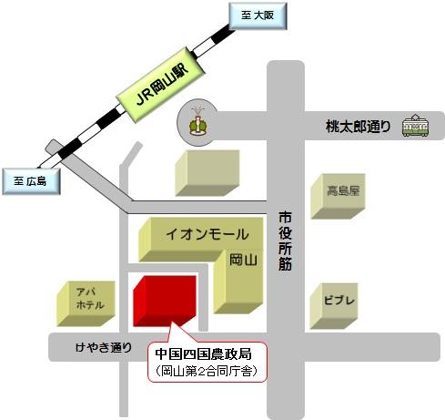 中国四国農政局地図