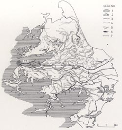 【写真】那賀川平野の旧河道(寺戸恒夫作図)