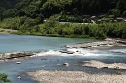 【写真】大西堰全景(右岸下流より望む)