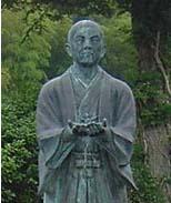 【写真】岩崎想左衛門重友の像