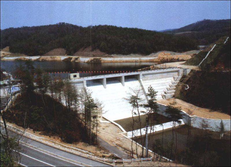 京丸ダム全景