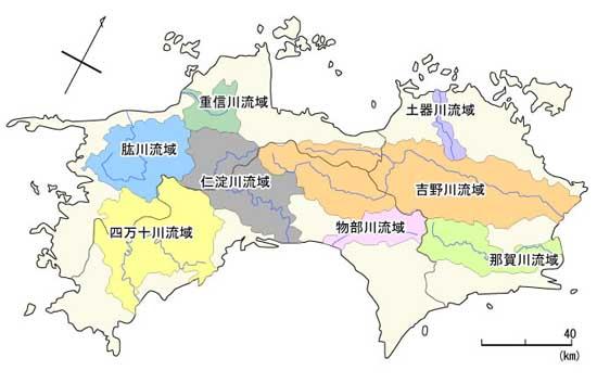 「四万十川 仁淀川、物部川 地図」の画像検索結果