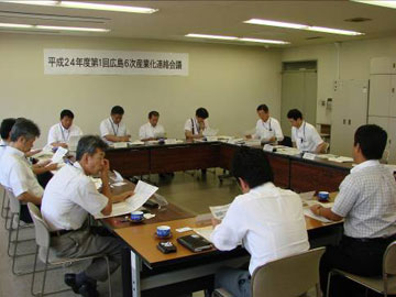 平成24年度第1回広島6次産業化連絡会議の開催