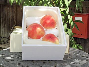 箱詰めされた桃
