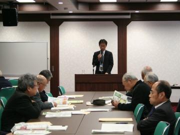 説明する徳島地域センター長