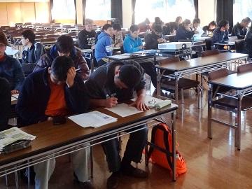 受講する学生たち