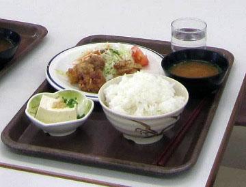 福島米を使った定食