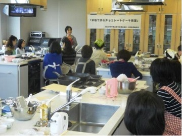 チョコレートケーキ教室1