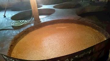 諸味の発酵・熟成の様子
