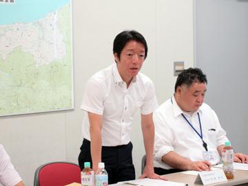 峯村水田農業対策室長のあいさつ
