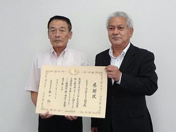 伝達の様子(山口県トラック協会)