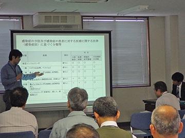 松江保健所の説明の様子