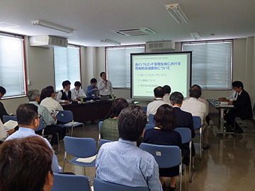 松江家畜保健衛生所の説明の様子