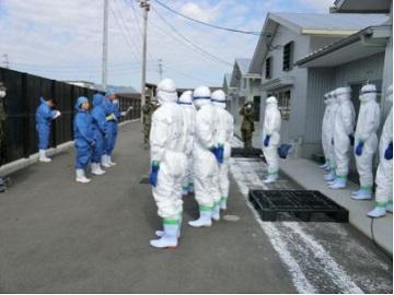 「香川県鳥インフルエンザ防疫演習」注意事項の伝達