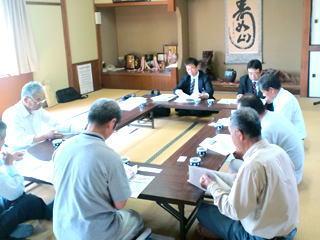 土居生産組合との意見交換会(5月21日)