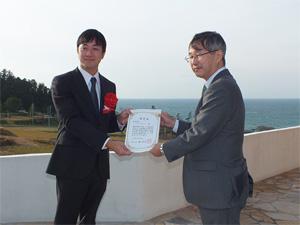 石川県内認定書交付の様子