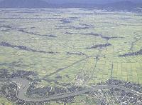 排水改良された西蒲原平野