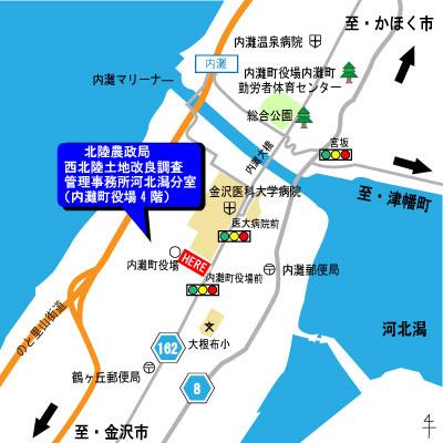 河北潟分室アクセス図