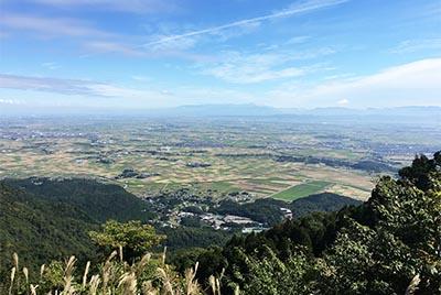 弥彦山から望む新潟平野(西蒲原郡弥彦村)