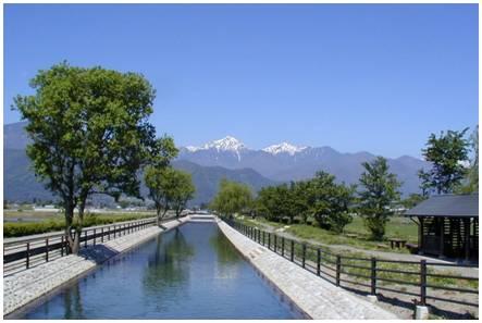 用水路と山脈