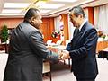 大臣の動き:セルイラトゥ フィジー農業・農漁村開発・国家防災大臣との会談