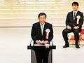 大臣の動き:「第45回日本農業賞表彰式」で祝辞を述べる森山農林水産大臣