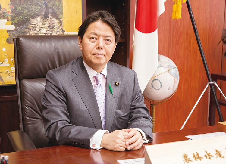 林 芳正農林水産大臣の写真 世界的な「日本食ブーム」が追い風となる中、日本の農林水産物と食品の輸