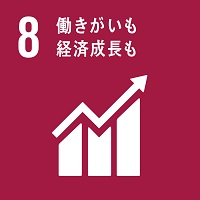 SDGsの目標08のロゴ