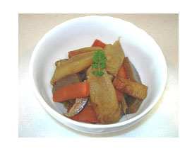東京うどと野菜の煮物