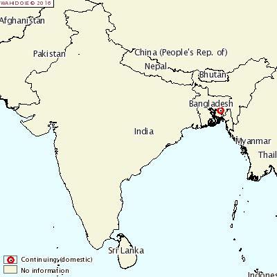インド発生地図