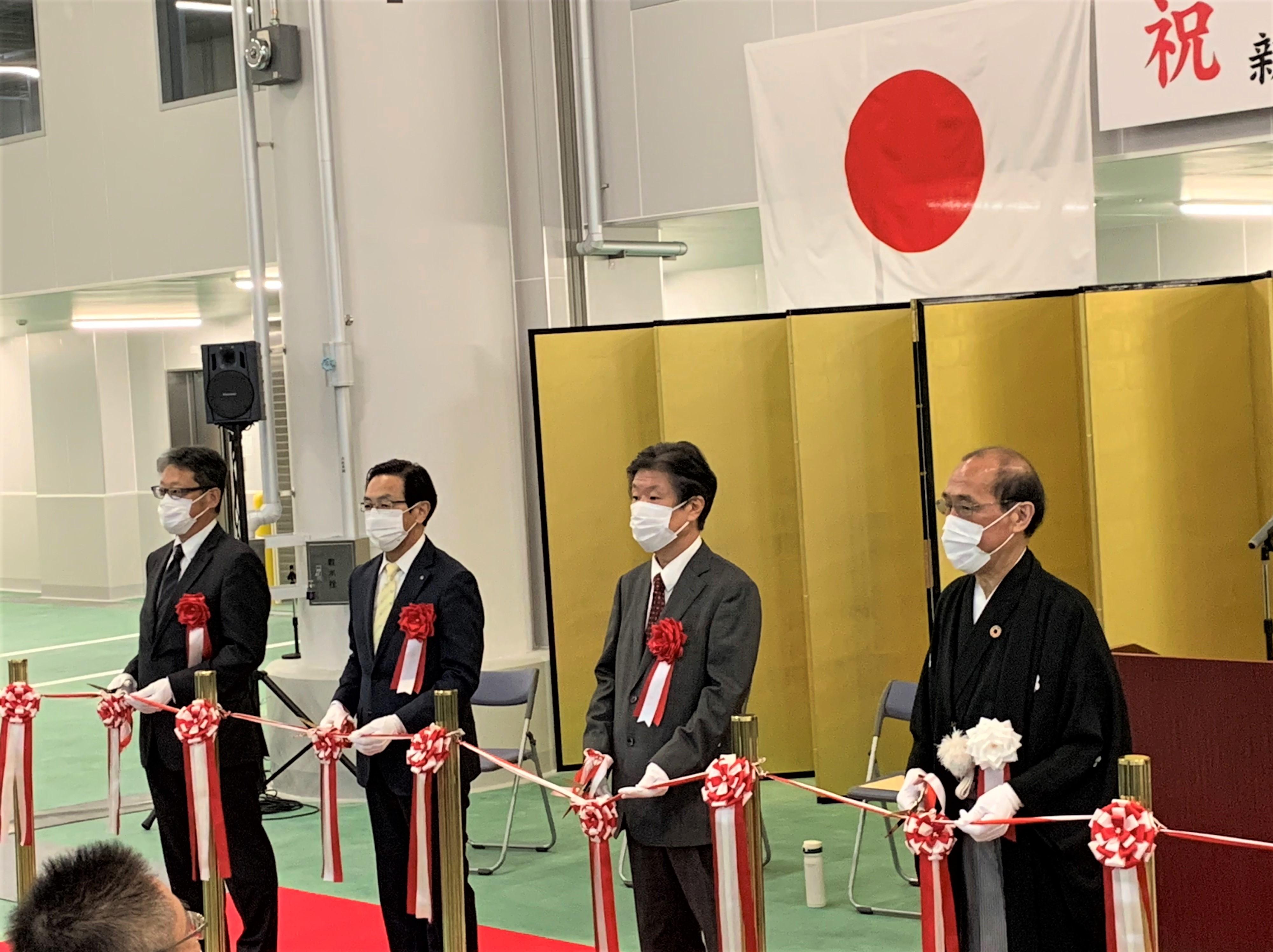 京都市中央市場水産棟の竣工式に出席しました