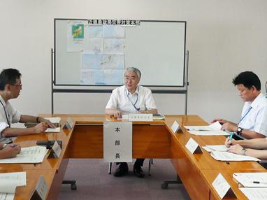 災害対策本部設置運営訓練の様子