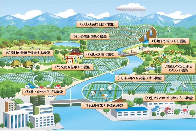 農業・農村の持つ多面的機能の全体イメージ