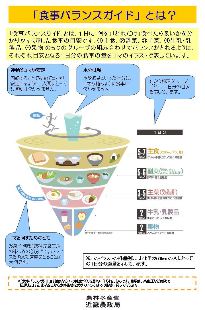 食事バランスガイド解説パネル(その1)の画像