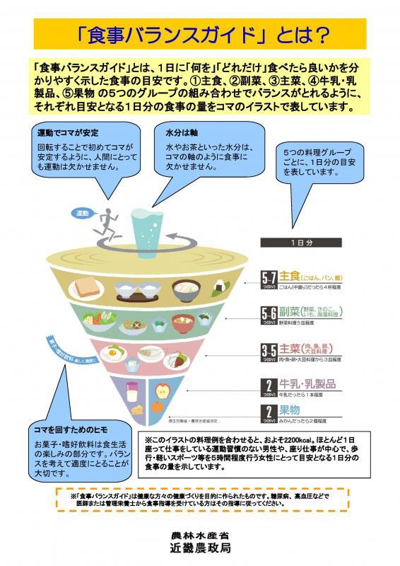 食事バランスガイドパネル(その1)