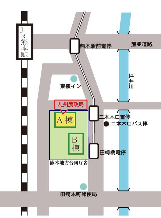 合同庁舎地図(棟別、局入り)