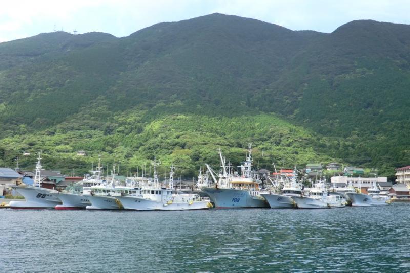 長崎の漁村の風景