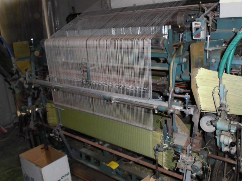 い草を織る機械です。