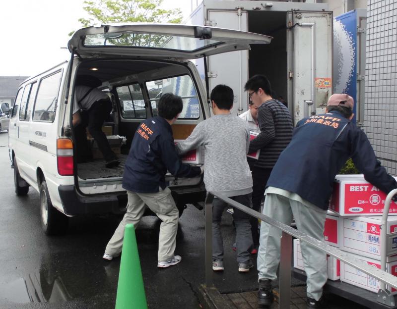 4月24日に支援物資の配送のお手伝いを行いました。