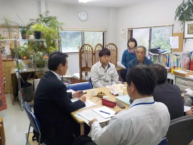 グリーンハート安田花卉での意見交換の様子