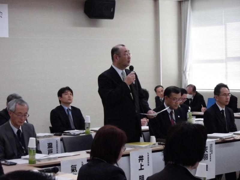 挨拶する井上九州農政局長