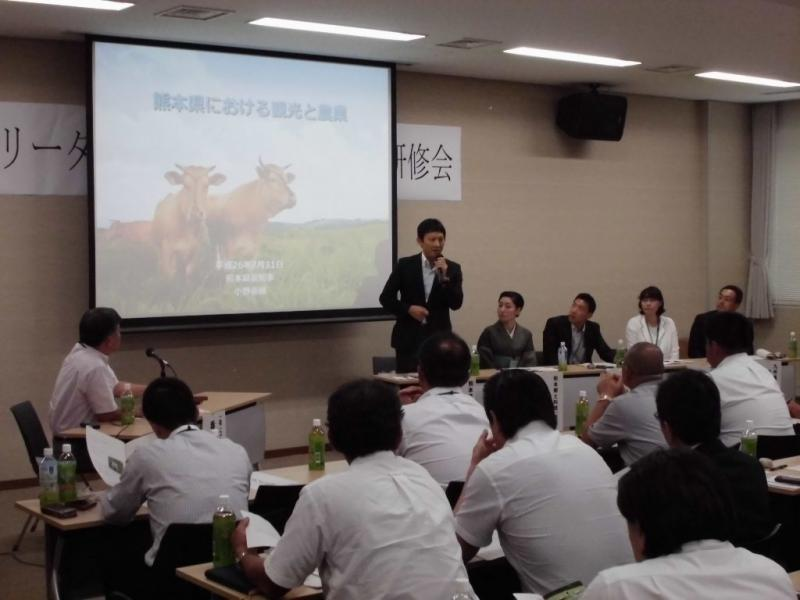 パネルディスカッションで話される小野熊本県副知事