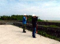 野鳥の観察の写真