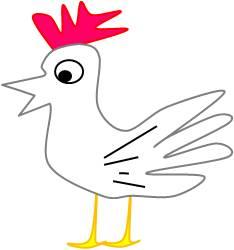 鶏のイラスト