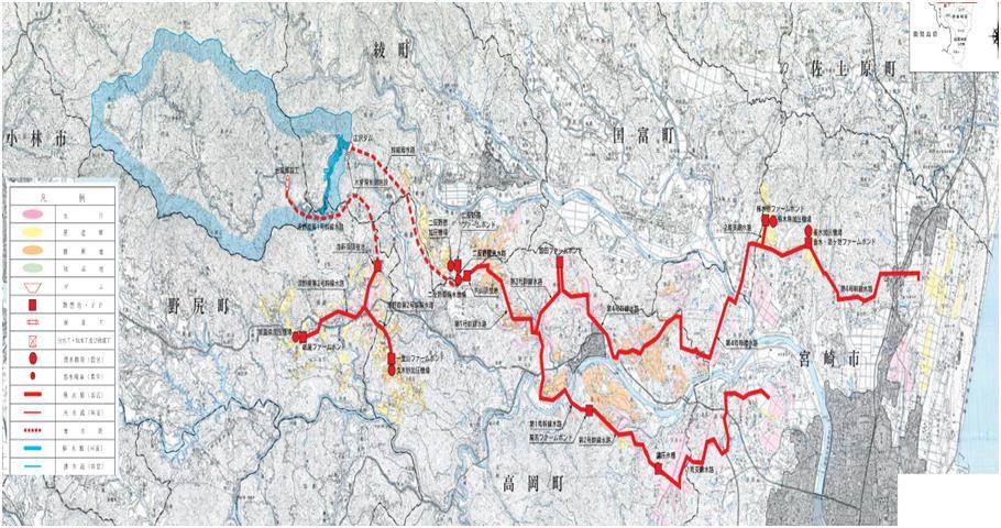 大淀川左岸地区平面図