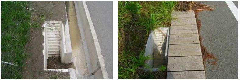 道路側溝への工夫