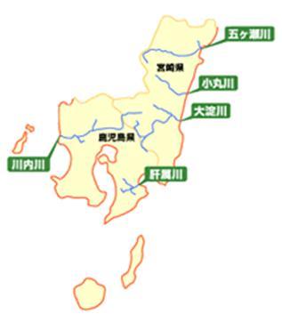 管内の主要河川位置図