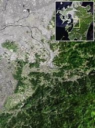 熊本県緑川流域(一部)の地形図