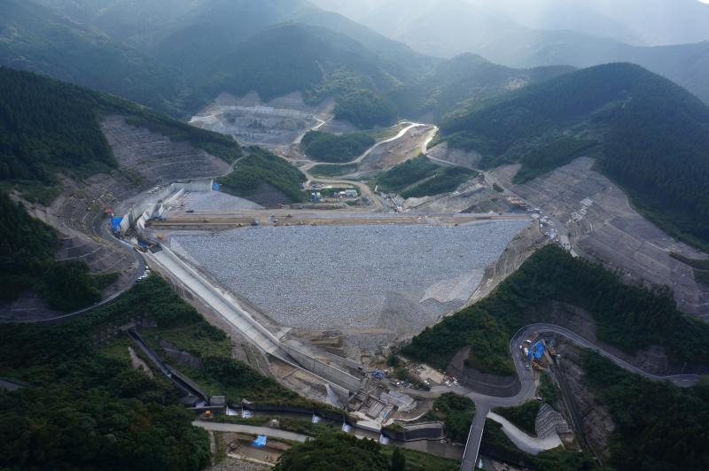 荒瀬ダム航空写真H2511JV撮影